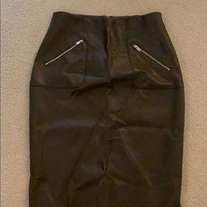 Zara faux leather pencil skirt M